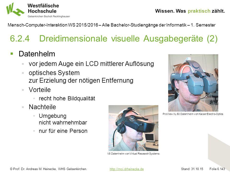 © Prof. Dr. Andreas M. Heinecke, WHS Gelsenkirchen. http://mci.drheinecke.dehttp://mci.drheinecke.de Wissen. Was praktisch zählt. Stand: 31.10.15 Foli