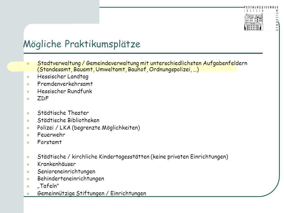 Mögliche Praktikumsplätze Stadtverwaltung / Gemeindeverwaltung mit unterschiedlichsten Aufgabenfeldern (Standesamt, Bauamt, Umweltamt, Bauhof, Ordnung