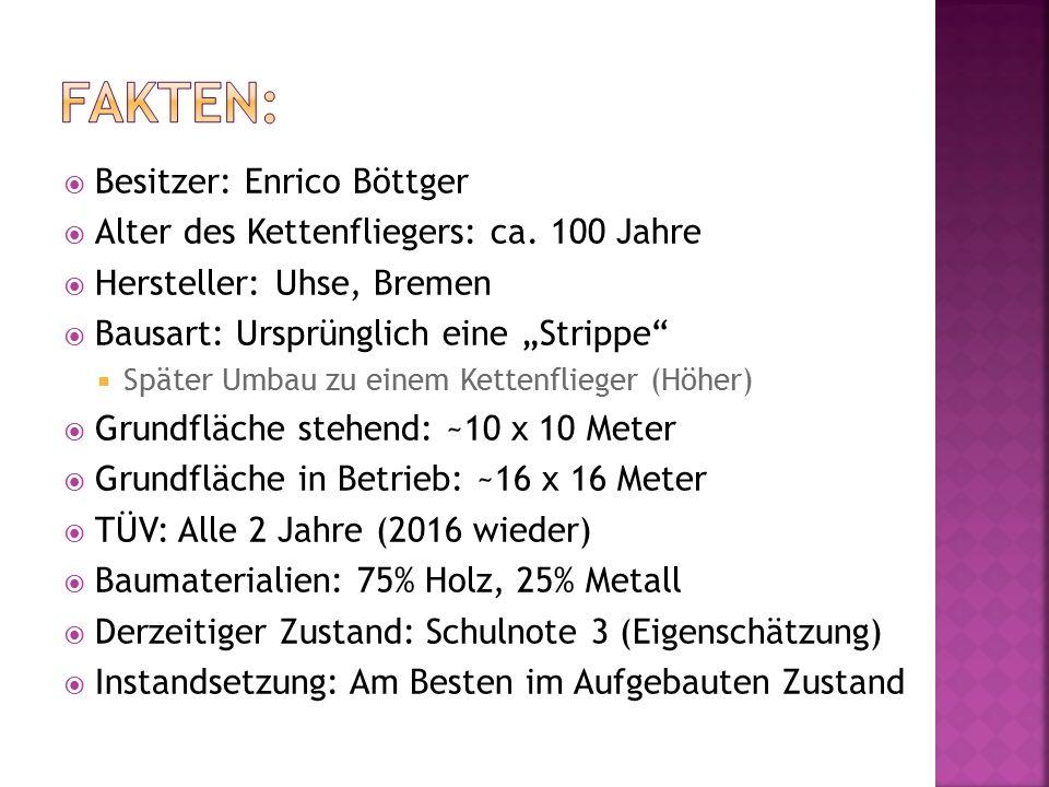  Besitzer: Enrico Böttger  Alter des Kettenfliegers: ca.