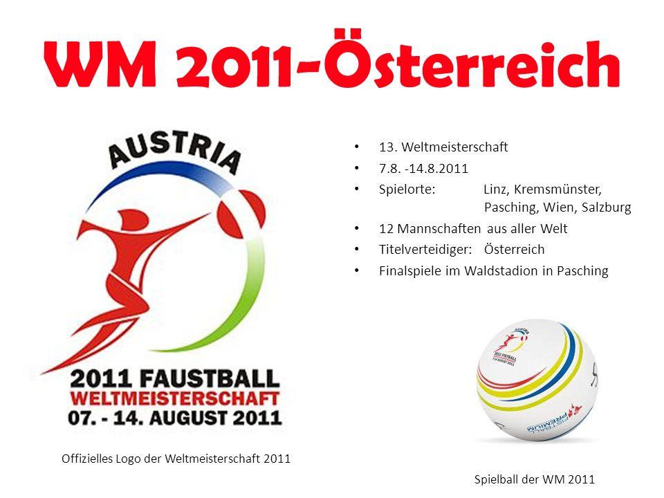 WM 2011-Österreich Offizielles Logo der Weltmeisterschaft 2011 13. Weltmeisterschaft 7.8. -14.8.2011 Spielorte: Linz, Kremsmünster, Pasching, Wien, Sa