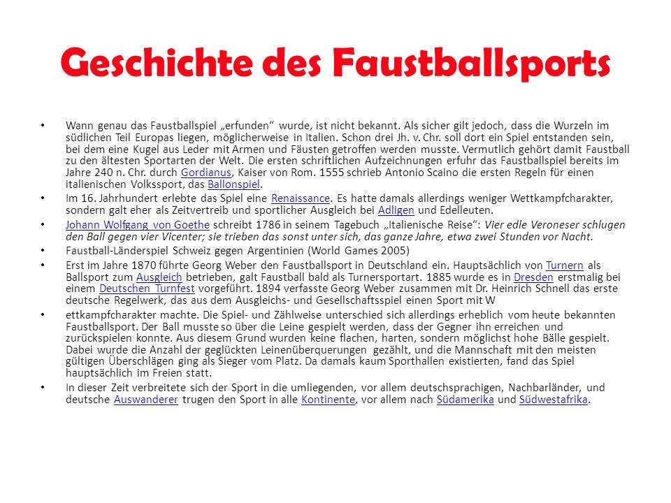 Faustball ist ein interessanter Sport.Es macht Spaß, fördert die Gemeinschaft und den Teamgeist.