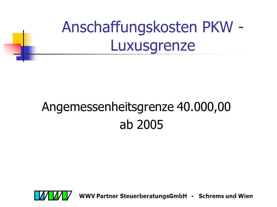 WWV Partner SteuerberatungsGmbH - Schrems und Wien Jahresabschluss 2005 Betriebsgebäude bei Aufgabe des Unternehmens (Neufassung) Gebäude kann sofort