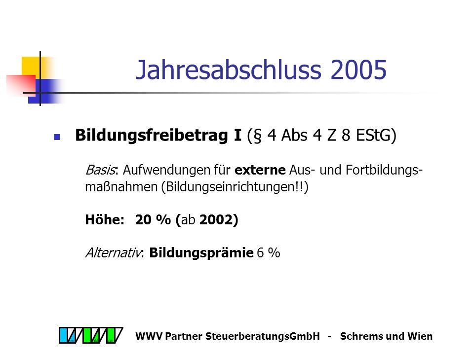 WWV Partner SteuerberatungsGmbH - Schrems und Wien Anschaffungskosten PKW - Luxusgrenze Angemessenheitsgrenze 40.000,00 ab 2005