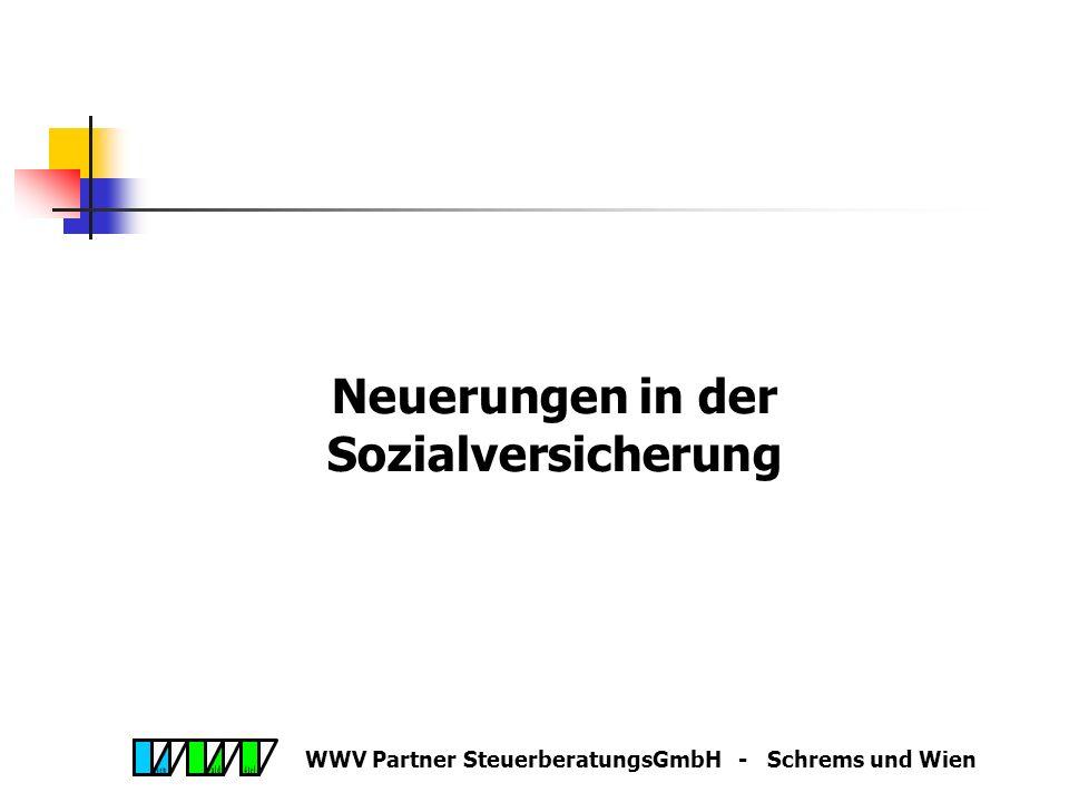 WWV Partner SteuerberatungsGmbH - Schrems und Wien Lehrlingsausbildungsprämie Prämie durch Verordnung für Mangelberufe auf EUR 2.000,00 erhöhbar Verze
