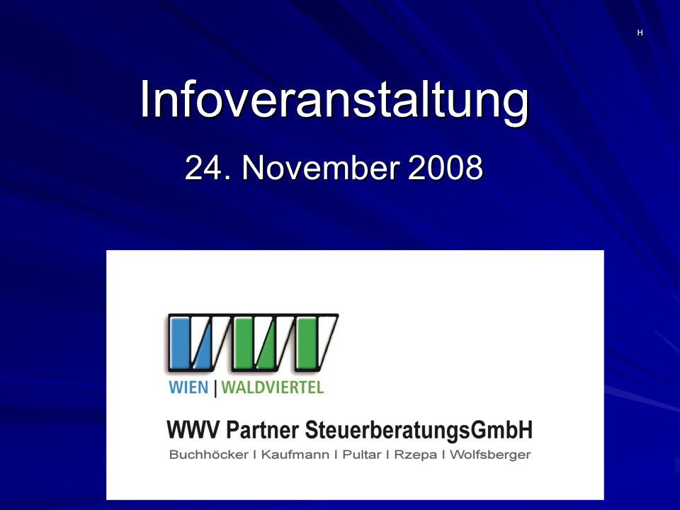 Infoveranstaltung 24. November 2008 H
