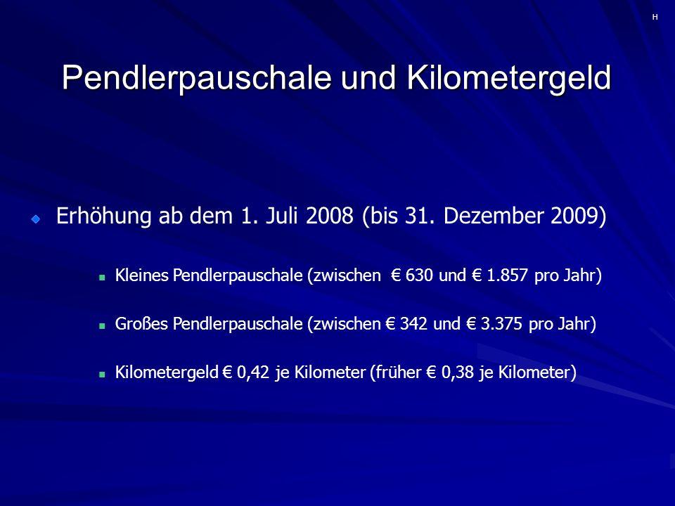 Pendlerpauschale und Kilometergeld Erhöhung ab dem 1.