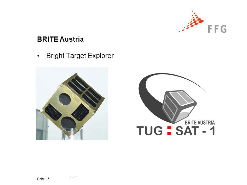 Seite 15 BRITE Austria Bright Target Explorer