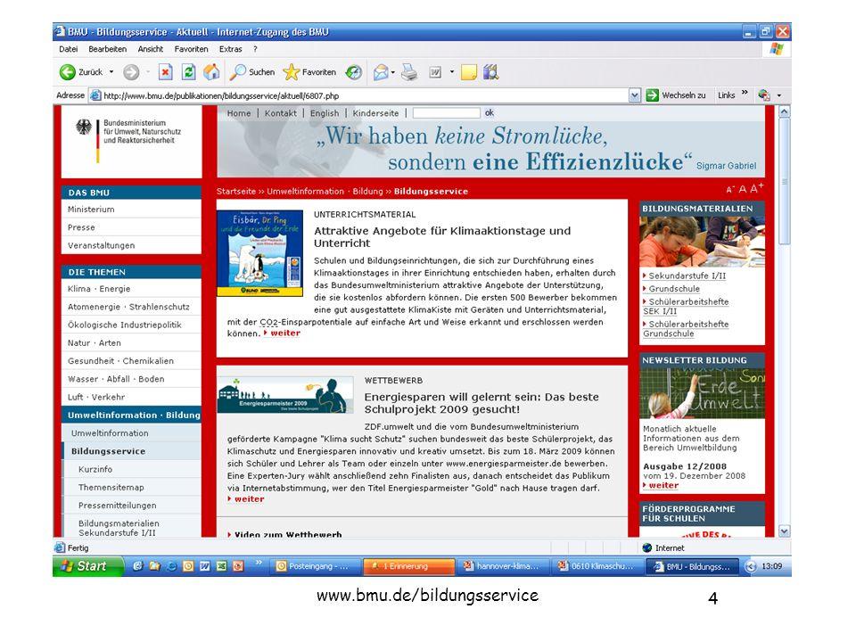 4 www.bmu.de/bildungsservice