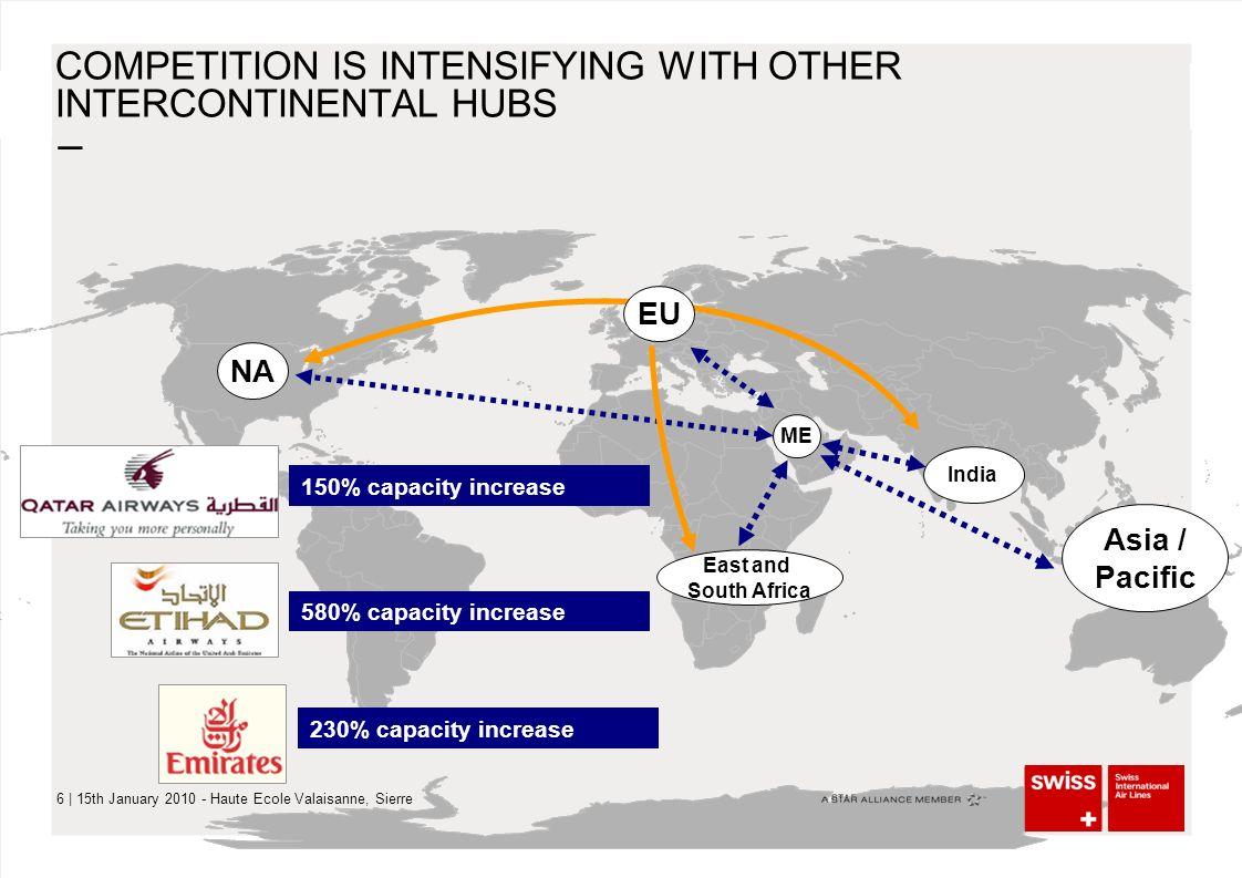 – 7 | 15th January 2010 - Haute Ecole Valaisanne, Sierre WANDEL DER INDUSTRIE – UNGEBREMSTES WACHSTUM IM MITTLEREN OSTEN Investment volume $82 billion 6 parallel runways for 120 Mio Pax 24h operation Dubai World Central International Airport (JXB)