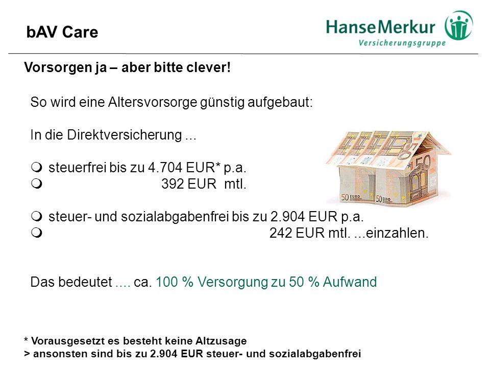 Vorsorgen ja – aber bitte clever! So wird eine Altersvorsorge günstig aufgebaut: In die Direktversicherung...  steuerfrei bis zu 4.704 EUR* p.a.  39