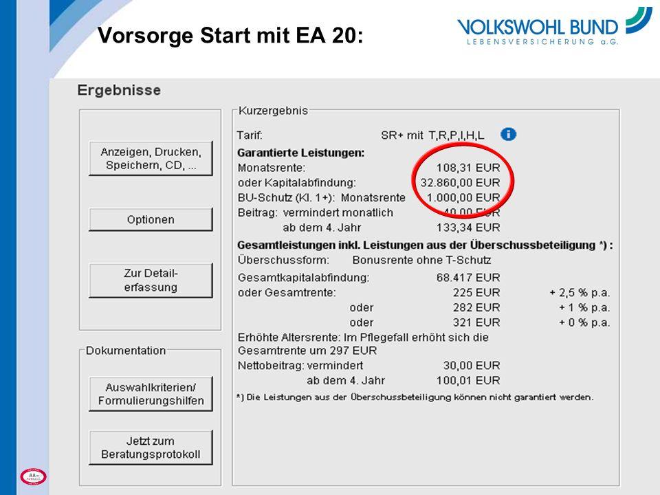 Vorsorge Start mit EA 20: