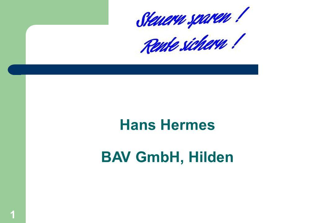 1 Hans Hermes BAV GmbH, Hilden Start