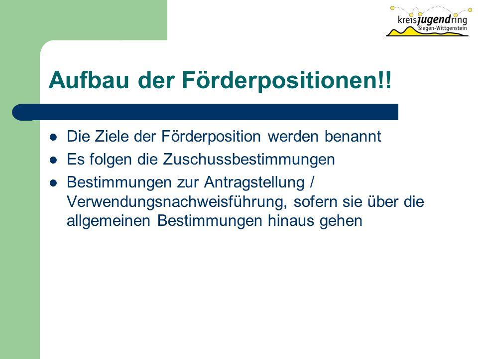 Aufbau der Förderpositionen!.
