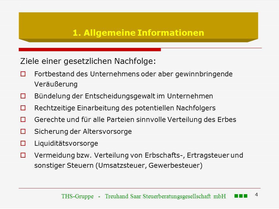 5 1.Allgemeine Informationen Arten der Übertragung:  Unentgeltliche Übertragung (i.S.