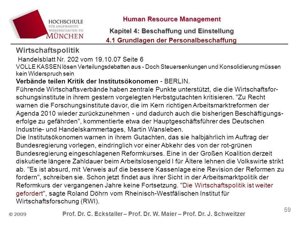 © 2009 Prof. Dr. C. Eckstaller – Prof. Dr. W.
