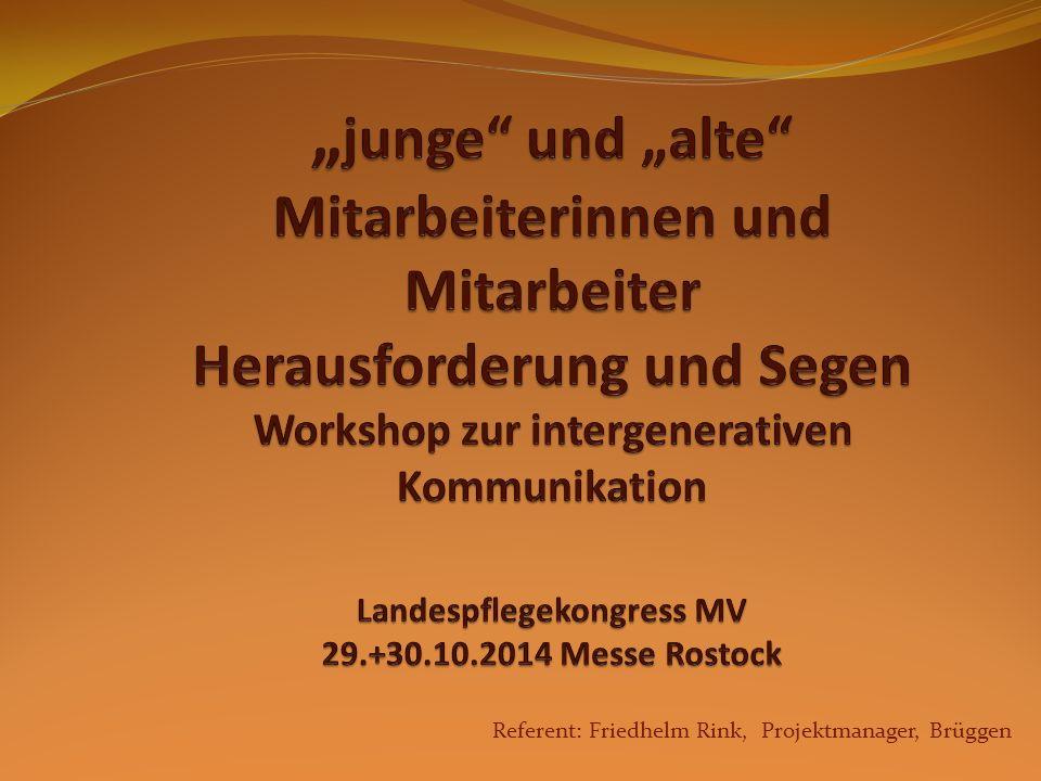 Referent: Friedhelm Rink, Projektmanager, Brüggen