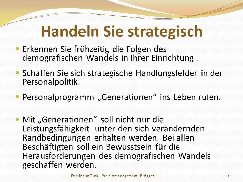 Handeln Sie strategisch Erkennen Sie frühzeitig die Folgen des demografischen Wandels in Ihrer Einrichtung. Schaffen Sie sich strategische Handlungsfe