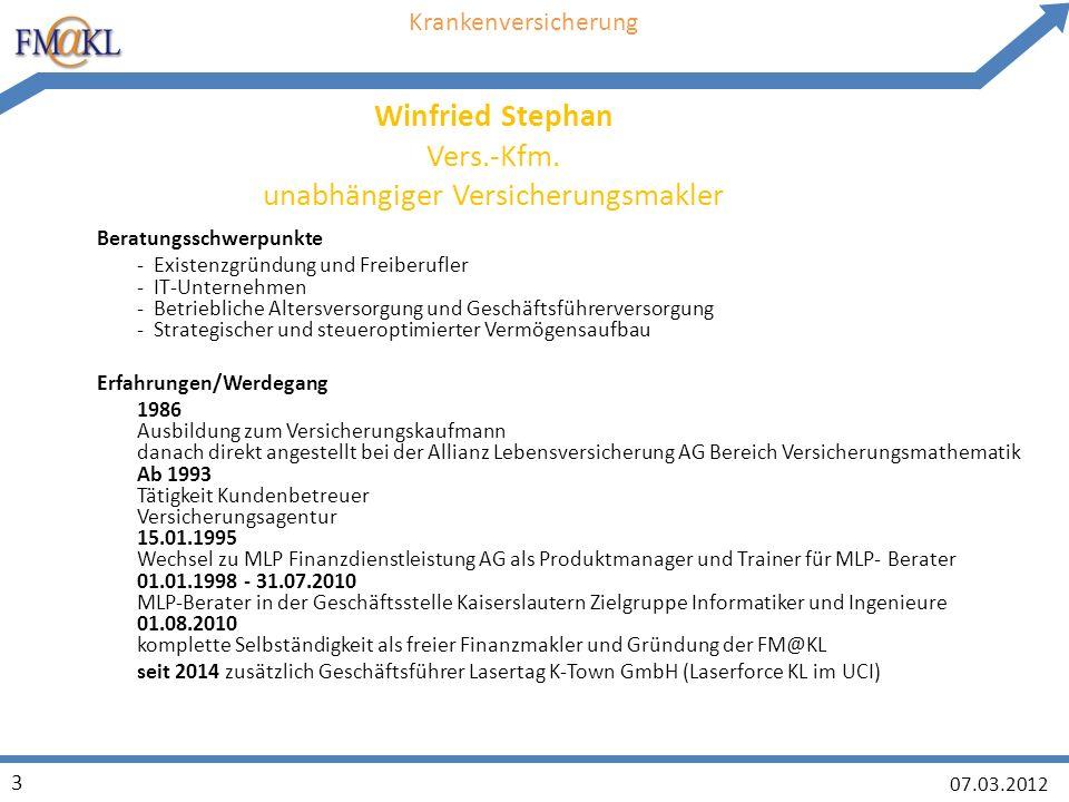 07.03.2012 24 FRAGEN oder 0631/5208316 winfried.stephan@fm-kl.de