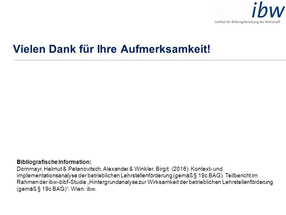 Vielen Dank für Ihre Aufmerksamkeit! Bibliografische Information: Dornmayr, Helmut & Petanovitsch, Alexander & Winkler, Birgit. (2016). Kontext- und I