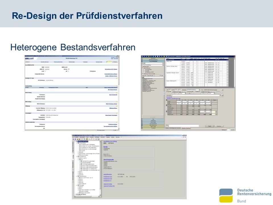 Re-Design der Prüfdienstverfahren Heterogene Bestandsverfahren