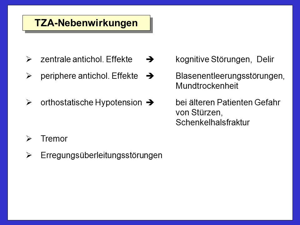 TZA-Nebenwirkungen   zentrale antichol.