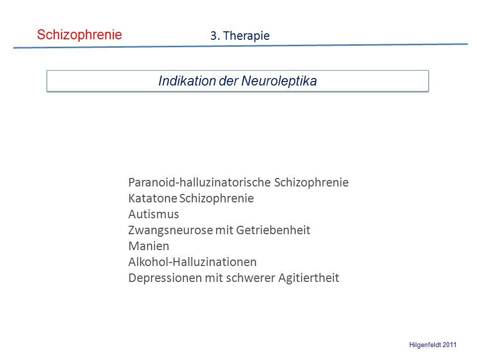 Schizophrenie Hilgenfeldt 2011 Indikation der Neuroleptika 3.