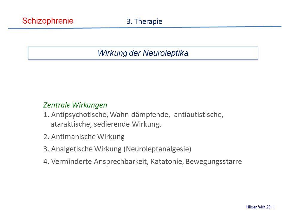Schizophrenie Hilgenfeldt 2011 Wirkung der Neuroleptika Zentrale Wirkungen 1.