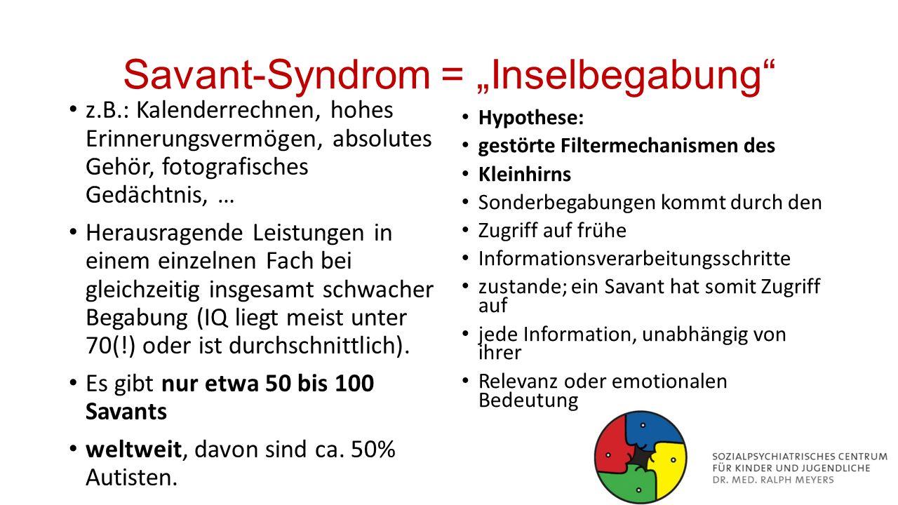 Autismus-Spektrum-Störung Asperger-Syndrom High functioning autism (HFA) Frühkindlicher (Kanner-) Autismus