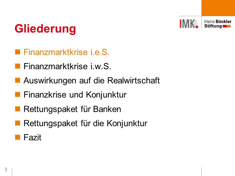 24 Positiv: richtige Maßnahmenkombination Keine Staatshilfe ohne Gegenleistung Negativ: Ungenügende europäische Koordination Freiwilligkeitsprinzip lässt Banken zögern Begrenzung einzelner Maßnahmen in Umfang & Volumen (v.a.: Aufkauf von Problemaktiva) Rettungspaket für Banken