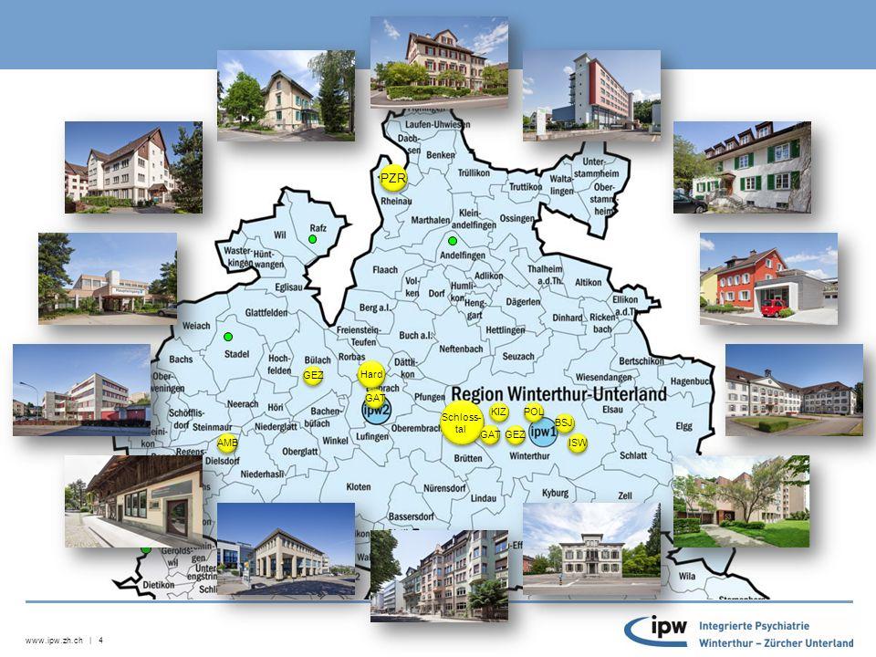 www.ipw.zh.ch | 4 Schloss- tal Schloss- tal KIZ GEZ GAT ISW AMB BSJ Hard POL PZR AMB