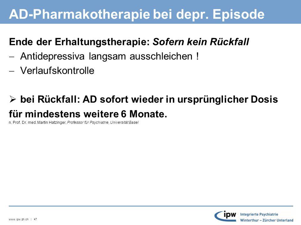 www.ipw.zh.ch | 48 Einschätzung Rückfallrisiko