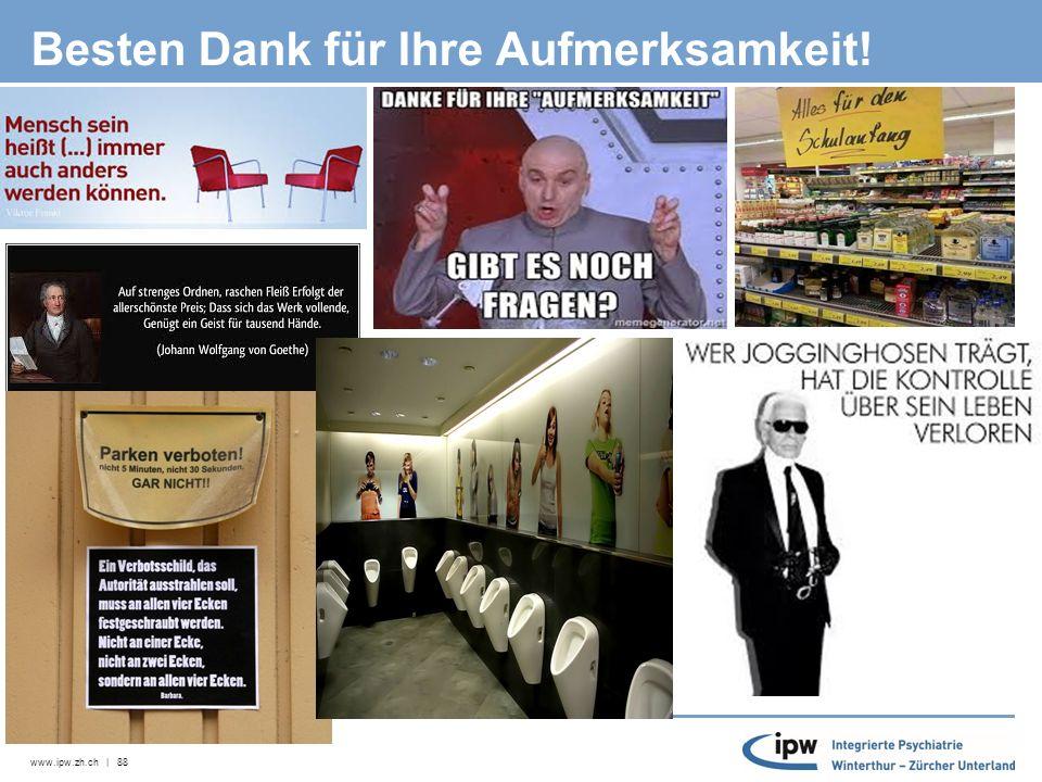 www.ipw.zh.ch | 88 Besten Dank für Ihre Aufmerksamkeit!