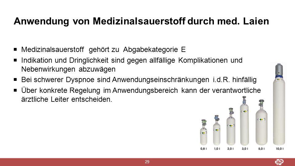 Anwendung von Medizinalsauerstoff durch med.