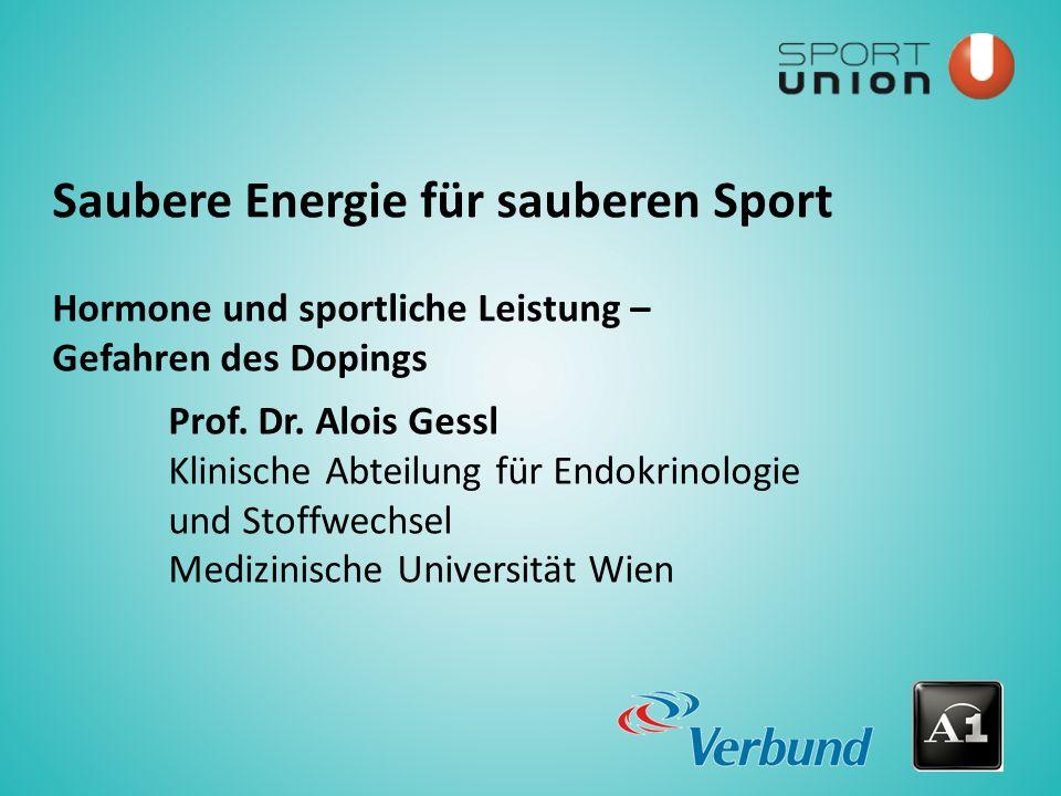 Saubere Energie für sauberen Sport Prof.Dr.