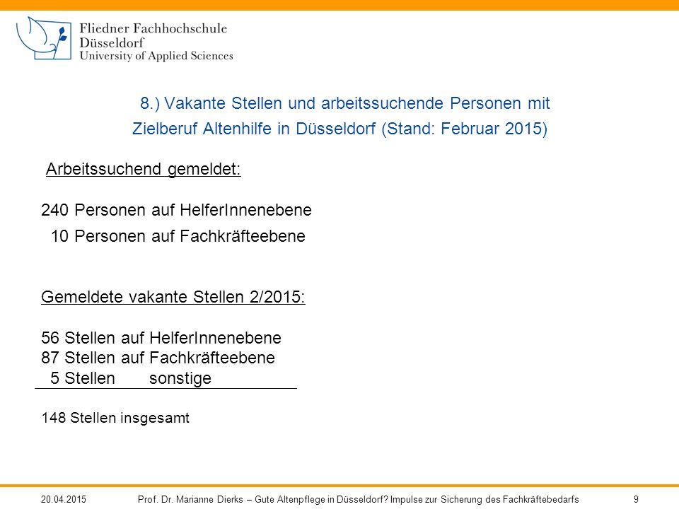 20.04.2015Prof. Dr. Marianne Dierks – Gute Altenpflege in Düsseldorf.