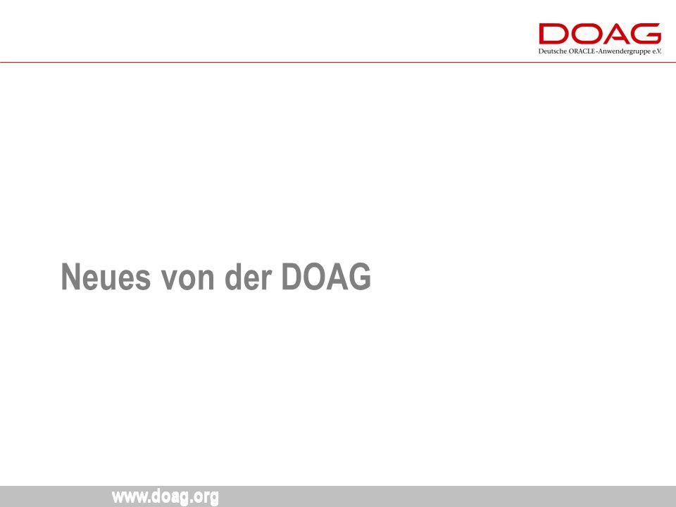 www.doag.org Neues von der DOAG 10