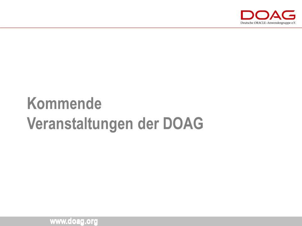 www.doag.org Kommende Veranstaltungen der DOAG 12