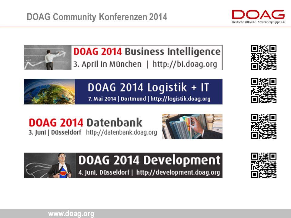 www.doag.org DOAG Community Konferenzen 2014 17