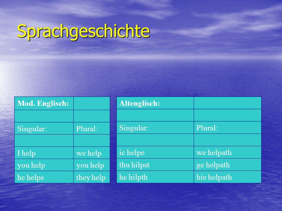 Sprachgeschichte Mod.