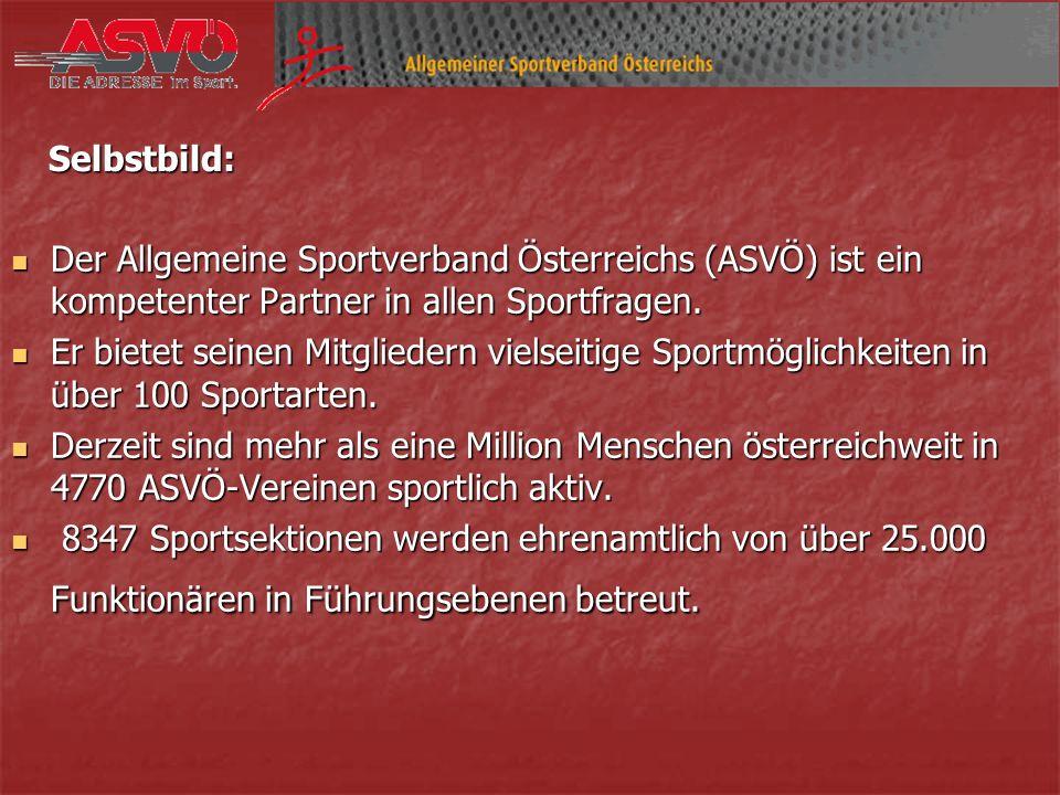 Der Allgemeine Sportverband Österreichs (ASVÖ) ist ein kompetenter Partner in allen Sportfragen.