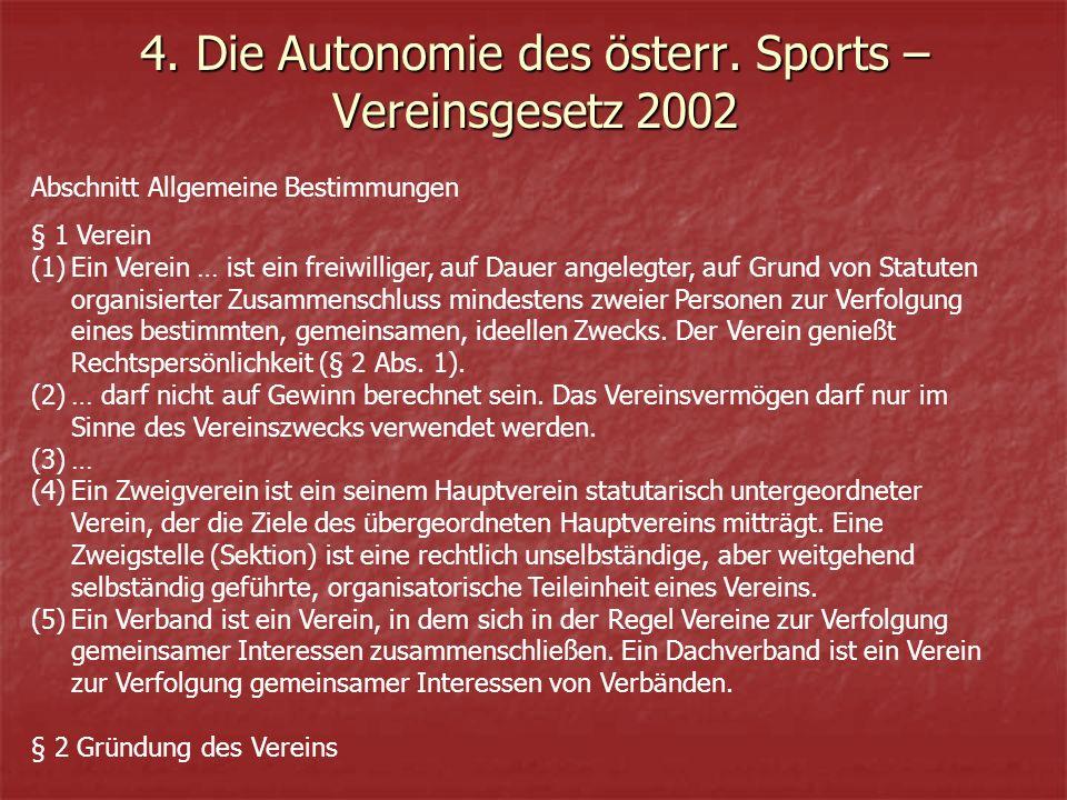 4. Die Autonomie des österr.