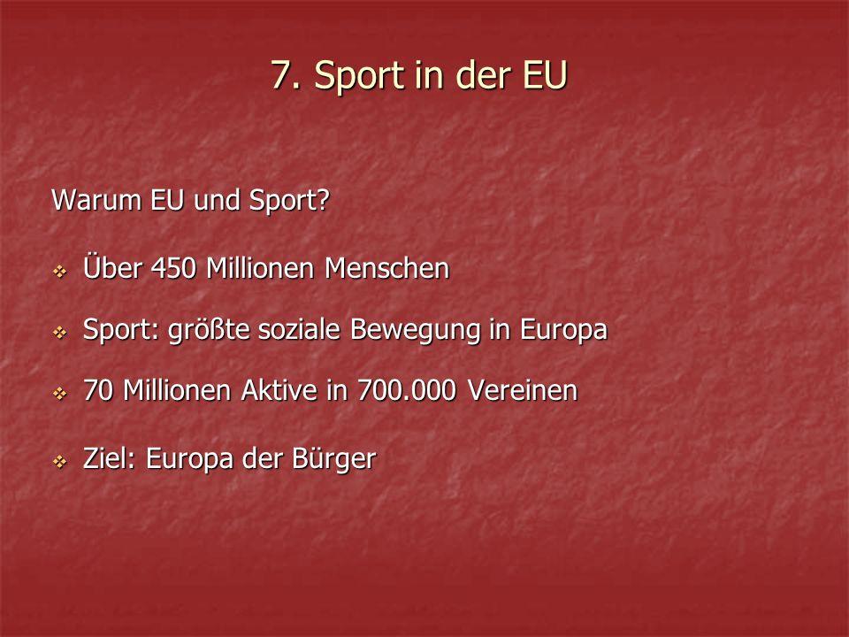 Warum EU und Sport.
