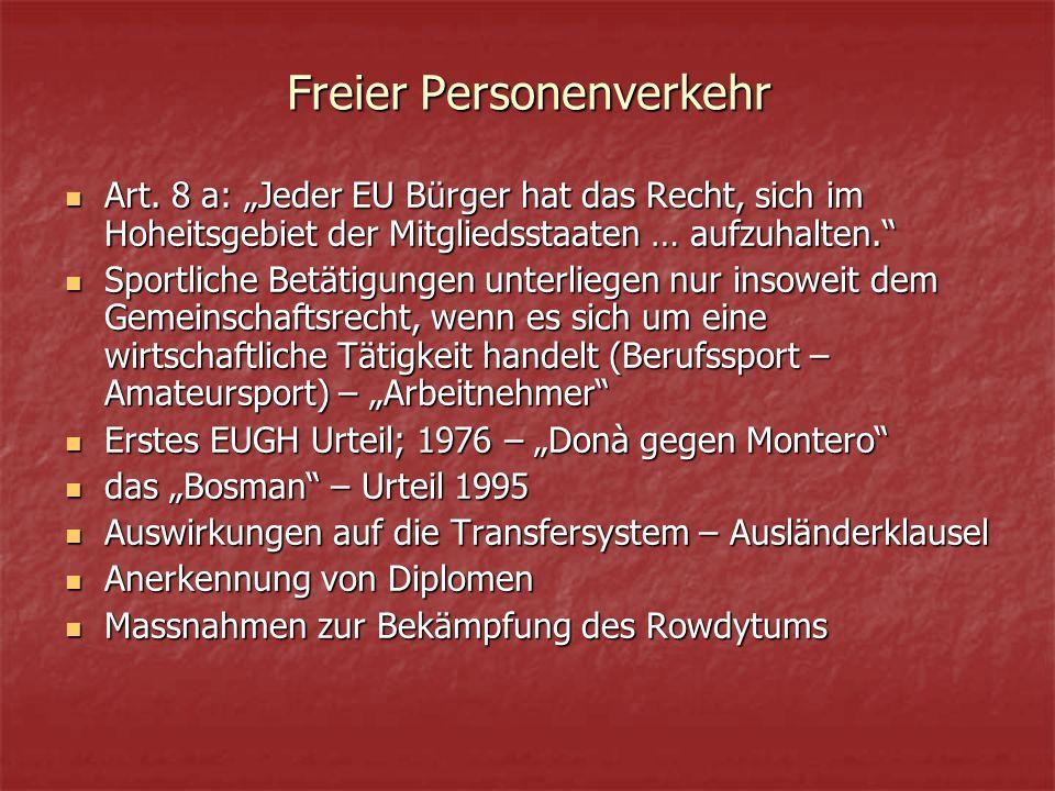 Freier Personenverkehr Art.
