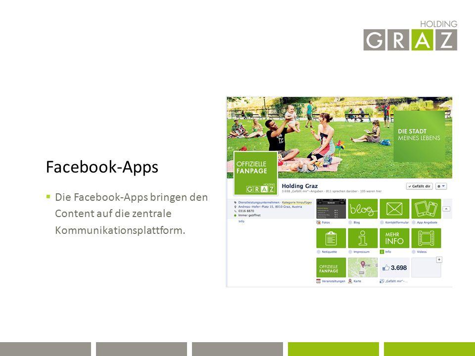 Facebook-Apps  Die Facebook-Apps bringen den Content auf die zentrale Kommunikationsplattform.