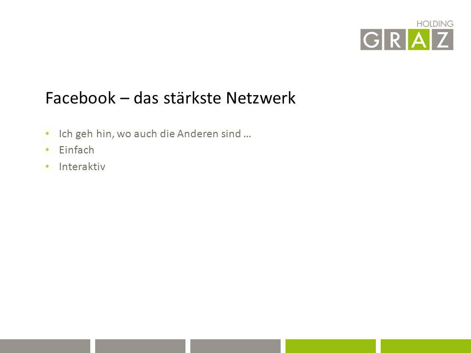 Facebook – das stärkste Netzwerk Ich geh hin, wo auch die Anderen sind … Einfach Interaktiv