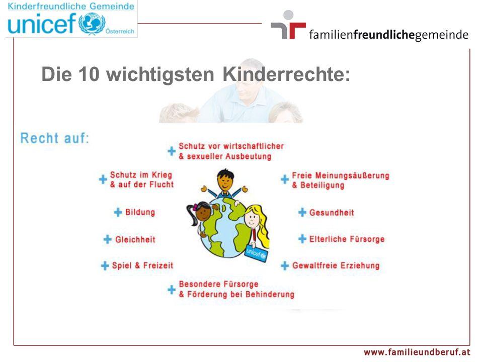 Die 10 wichtigsten Kinderrechte: