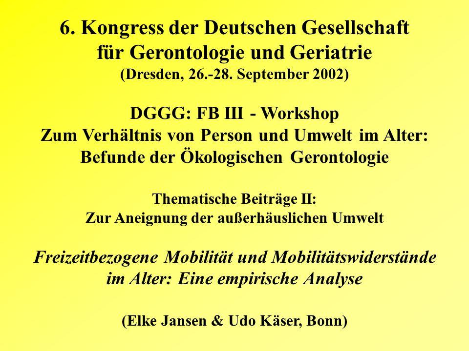 6. Kongress der Deutschen Gesellschaft für Gerontologie und Geriatrie (Dresden, 26.-28.