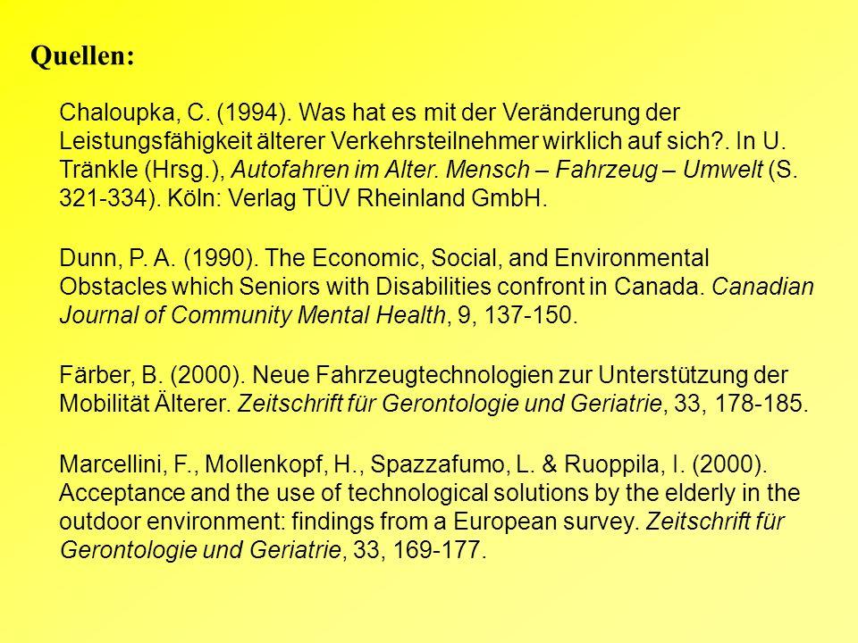 Quellen: Chaloupka, C. (1994).