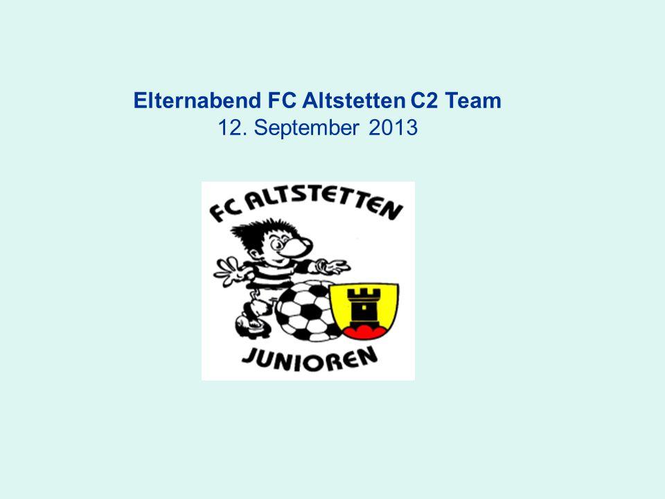 Elternabend FC Altstetten C2 Team 12. September 2013