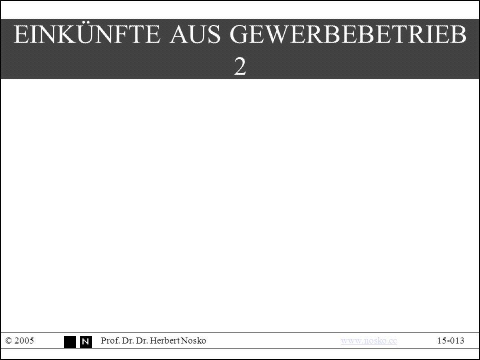 ERMÄßIGTER STEUERSATZ § 34 I © 2005Prof.Dr. Dr.